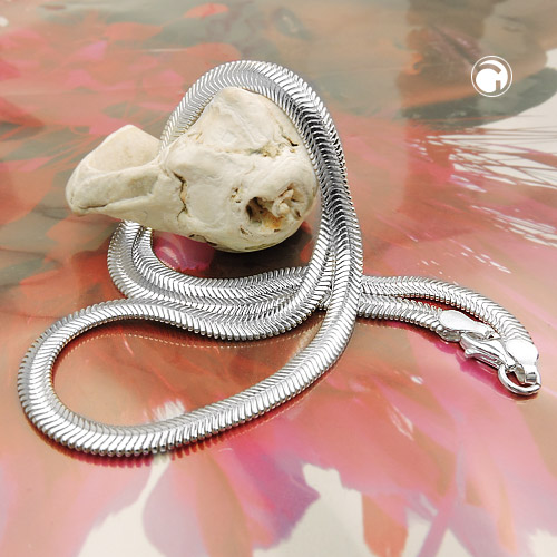 NECKLACE, FLAT SNAKE CHAIN, SILVER 925, 42CM