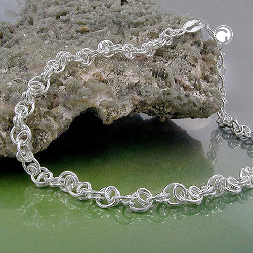 BRACELET, FANCY CHAIN, SILVER 925, 19CM