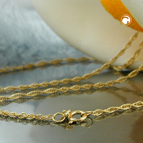 Necklace, Twisted Anchor Chain 14K Gold