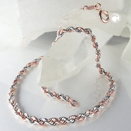 bracelet, rope-chain, 19cm, 9K GOLD