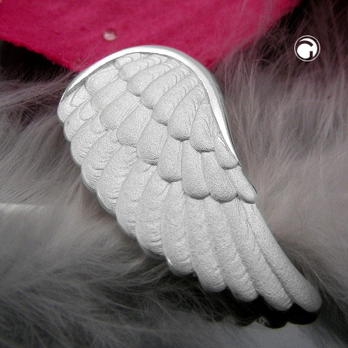 PENDANT, ANGEL'S WINGS, SILVER 925