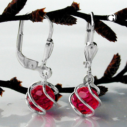 leverback earrings, silver 925